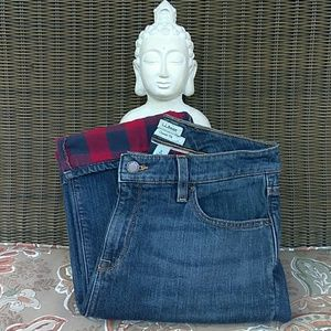 L.L. Bean 1912 Classic Fit Flannel Lined Jeans